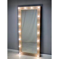 Гримерное зеркало с подсветкой 175 на 80 цвета светлый дуб
