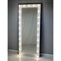 Длинное гримерное зеркало с подсветкой по краям 190 на 80