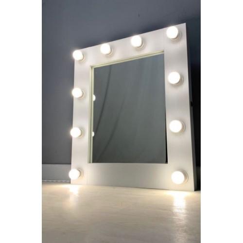 Гримерное зеркало с подсветкой лампочками 60х65 см 10 ламп