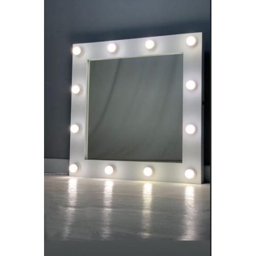 Гримерное зеркало с подсветкой лампочками 80х80 см 12 ламп