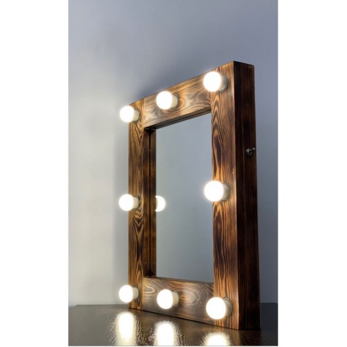 Гримерное зеркало с лампами 60х50