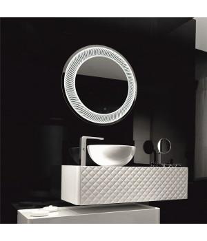 Круглое зеркало в ванную комнату с подсветкой Затмение